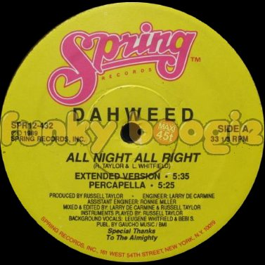 Dahweed - All Night All Right (Extended Version)
