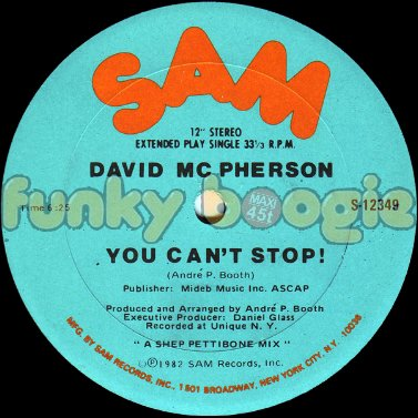 David MC Pherson - You Can't Stop !