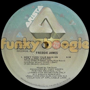 Freddie James - Don't Turn Your Back On Love (Long Version)