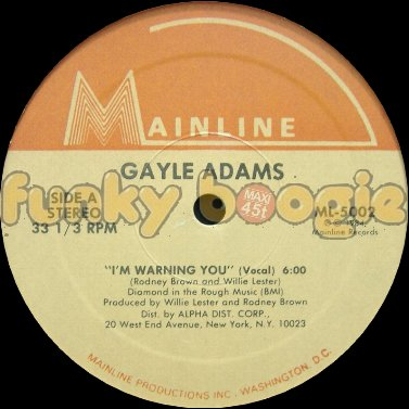 Gayle Adams - I'm Warning You (Vocal)