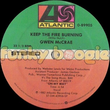 Gwen McCrae - Keep The Fire Burning (Vocal)