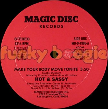 Hot & Sassy - Make Your Body Move Tonite (Vocal)