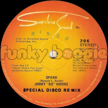 "Jimmy ""Bo"" Horne - Spank (Special Disco Re-Mix)"