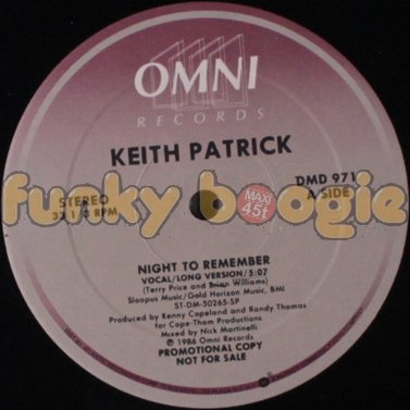 Keith Patrick - Night To Remember (Vocal/Long Version)
