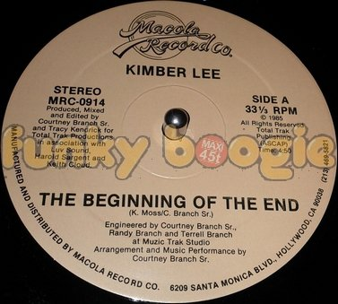 Kimber Lee ‎- The Beginning Of The End