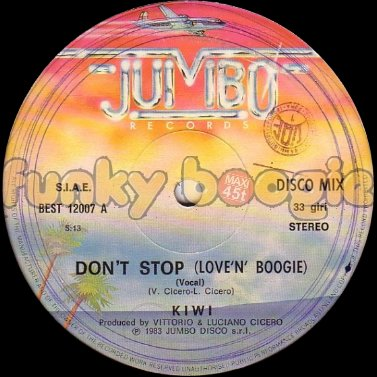 Kiwi - Don't Stop (Love'N' Boogie) (Vocal)