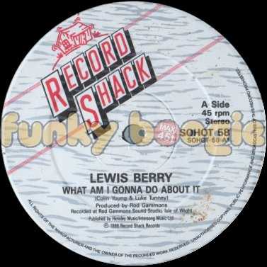 Lewis Berry - What Am I Gonna Do About It