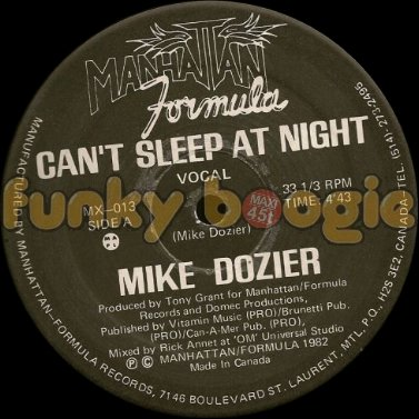 Mike Dozier - Can't Sleep At Night (Vocal)