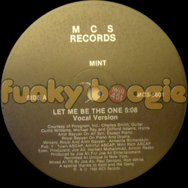 Mint - Let Me Be The One (Vocal Version)