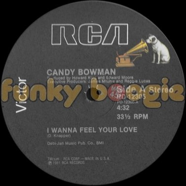 Candy Bowman - I Wanna Feel Your Love
