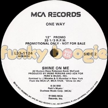 One Way - Shine On Me (Remixed By J. Morales & S. Munzibai)