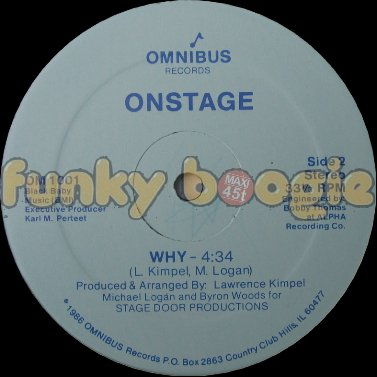 Onstage - Why