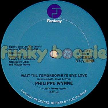 Philippe Wynne - Wait 'Til Tomorrow/Bye Bye Love