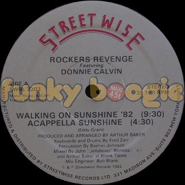 Rockers Revenge Feat. Donnie Calvin - Walking On Sunshine '82