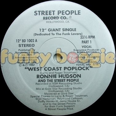 "Ronnie Hudson And The Street People - ""West Coast Poplock"" (Vocal) (Part I)"