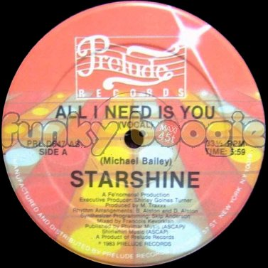 Starshine - All I Need Is You (Vocal)