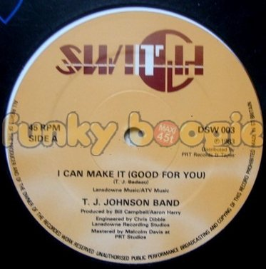 T.J. Johnson Band - I Can Make It (Good For You)