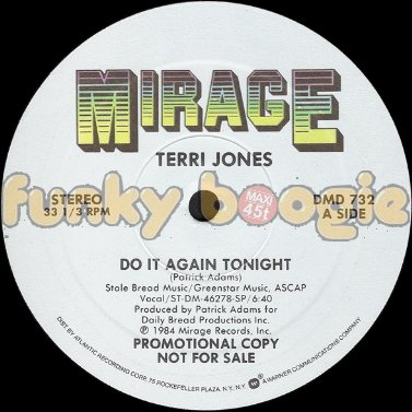 Terri Jones - Do It Again Tonight (Vocal)