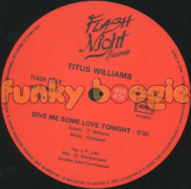 Titus Williams - Give Me Some Love Tonight