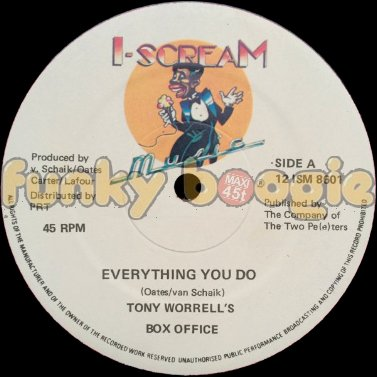 Tony Worrell's Box Office - Everything You Do