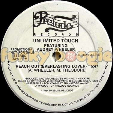 Unlimited Touch Feat. Audrey Wheeler - Reach Out (Everlasting Lover)
