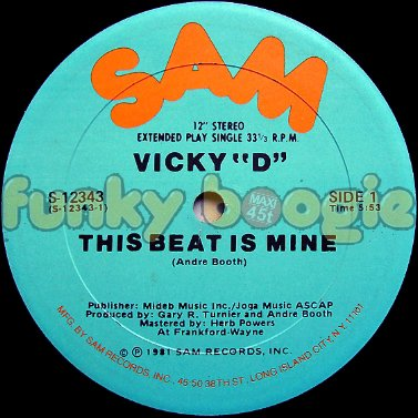 "Vicky ""D"" - This Beat Is Mine"