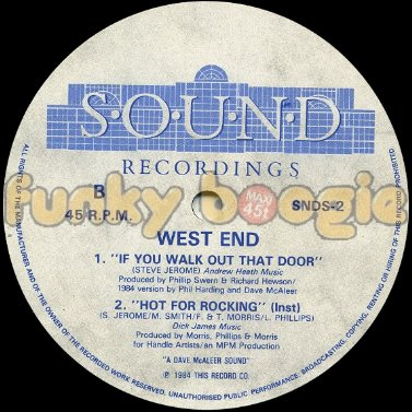 West End - If You Walk Out That Door