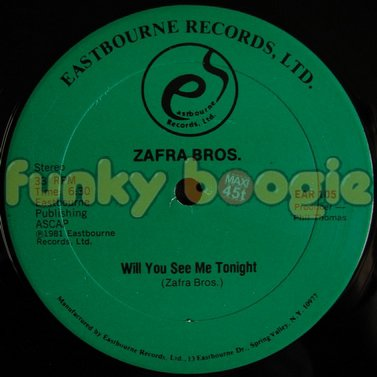 Zafra Bros. - Will You See Me Tonight