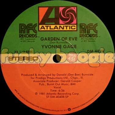 Yvonne Gage - Garden Of Eve (Vocal)