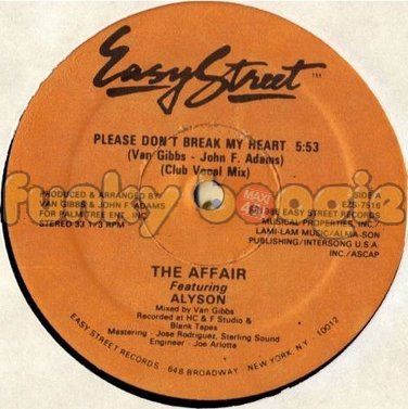 Affair Feat. Alyson, The - Please Don't Break My Heart (Club Vocal Mix)