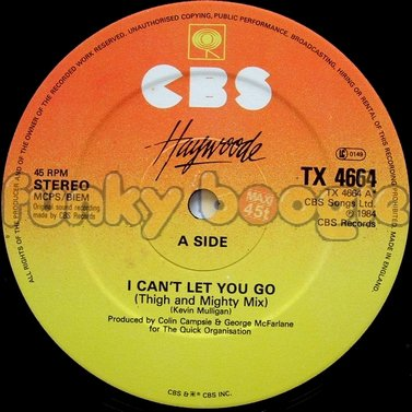 Haywoode - I Can't Let You Go (Thigh And Mighty Mix)