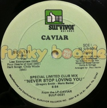 Caviar - Never Stop Loving You (Special Limited Club Mix)