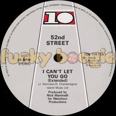52nd Street - I Can't Let You Go (Extended)