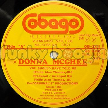 Donna McGhee - You Should Have Told Me