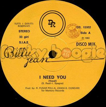 Billie Jean - I Need You (Vocal)