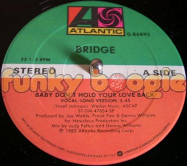 Bridge - Baby Don't Hold Your Love Back (Vocal/Long Version)