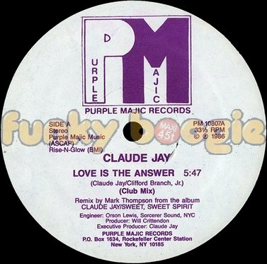 Claude Jay - Love Is The Answer (Club Mix)