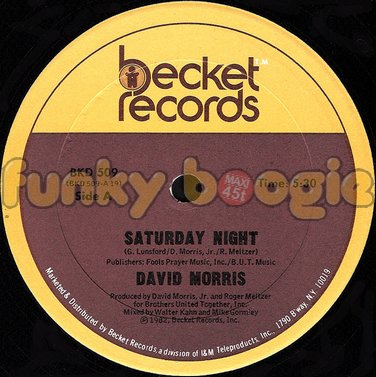 David Morris - Saturday Night
