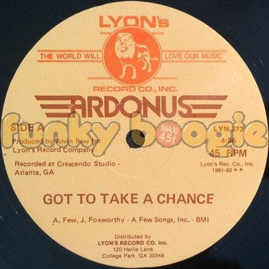 Ardonus - Got To Take A Chance