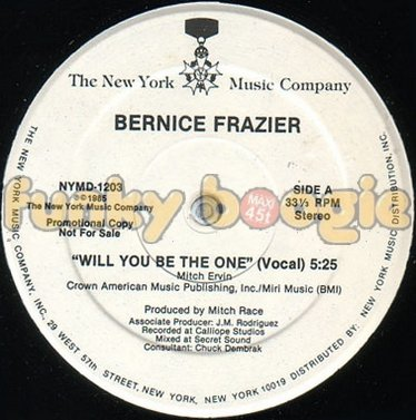 Bernice Frazier - Will You Be The One (Vocal)
