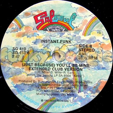 Instant Funk - (Just Because) You'll Be Mine (Extended Club Version)