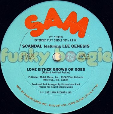 Scandal Feat. Lee Genesis - Love Either Grows Or Goes