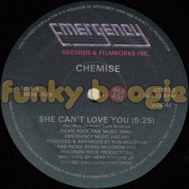 Chemise - She Can't Love You (Vocal)