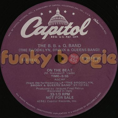 B. B. & Q. Band, The - On The Beat
