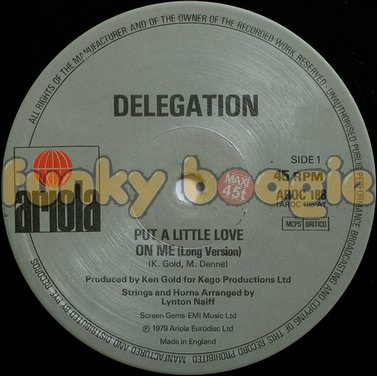 Delegation - Put A Little Love On Me (Long Version)