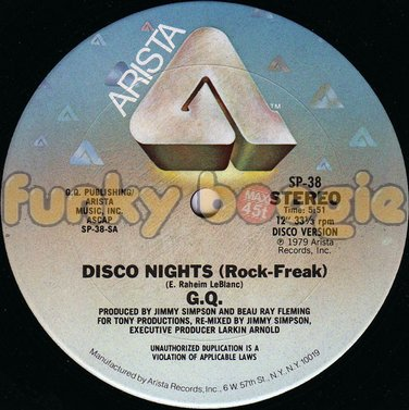 G.Q. - Disco Nights (Rock-Freak)