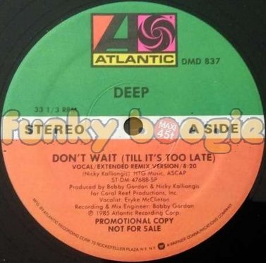 Deep - Don't Wait (Till It's Too Late) (Vocal/Extended Remix Version)