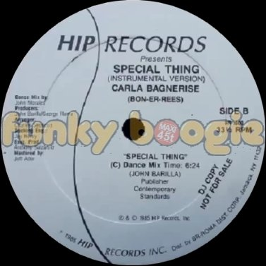 Carla Bagnerise - Special Thing (Dance Mix)
