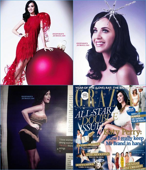 * *  Découvrez des scans pour la magazine « GRAZIA » , numéro consacré à Noël !_______________________________________ Comment tu trouves les photos ? Réussites ou non ? :)* *