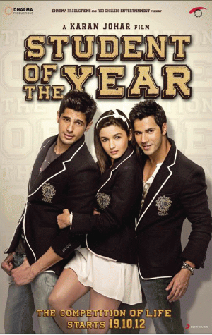 Film: Indien Student Of the Year  146 minutes[Comédie et Romance]